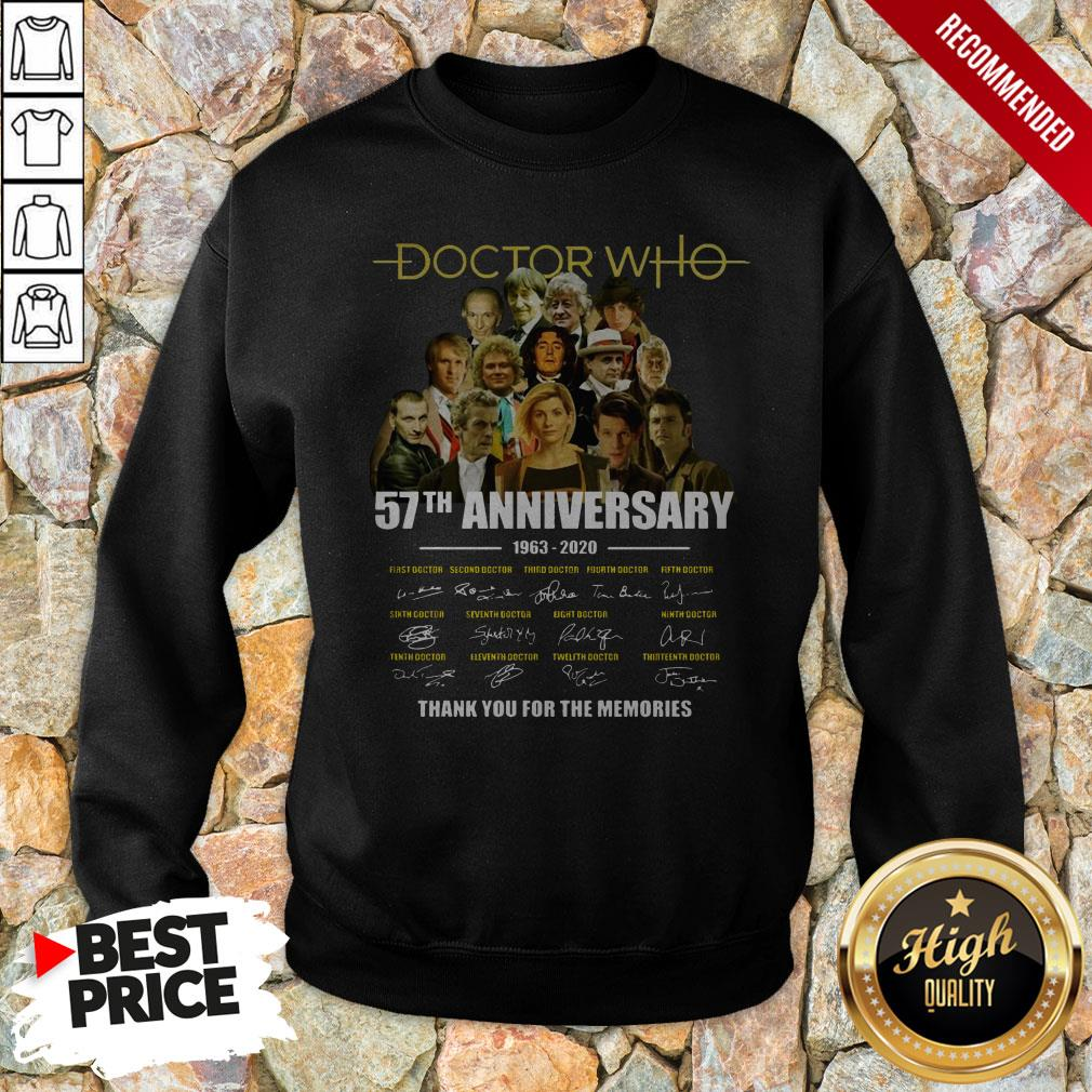 Doctor Who 57th Anniversary 1963 2020 Characters Signatures Sweatshirt