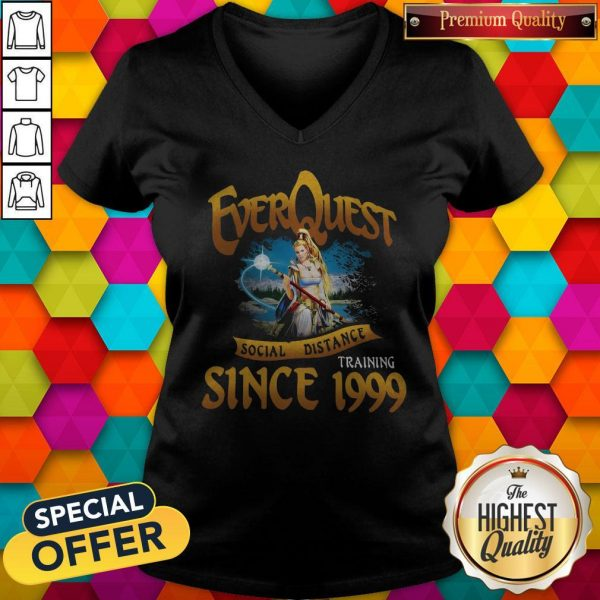 Everquest Social Distance Training Since 1999 V-neck