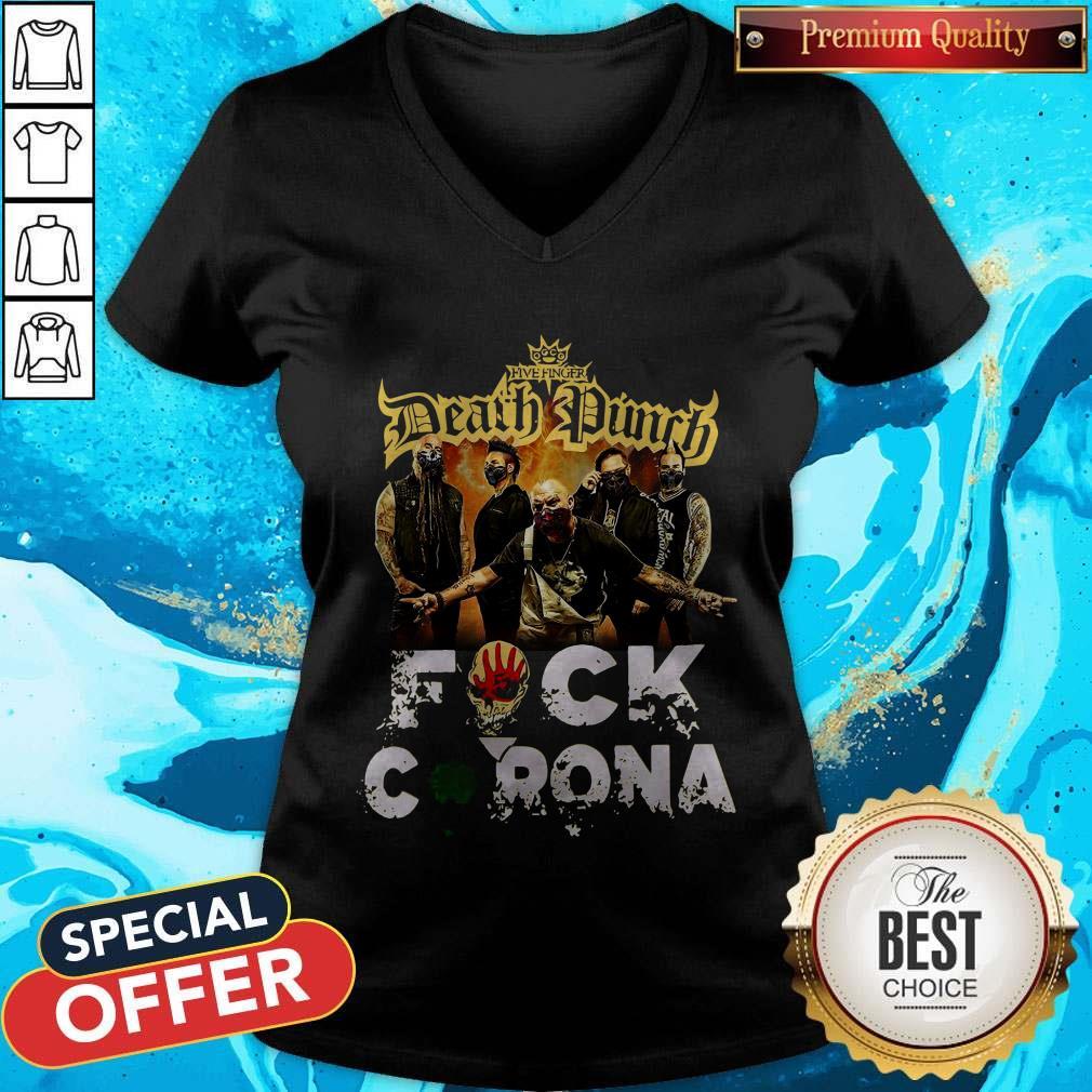 Five Finger Death Punch Fuck Corona V-neck