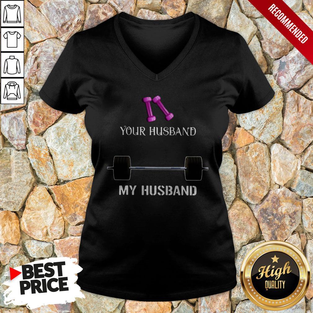 Gym Your Husband My Husband V-neck