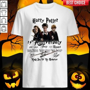 Harry Potter 19th Anniversary 2001 2020 7 Parts 1179 Minutes Thank You For The Memories Signatures Shirt