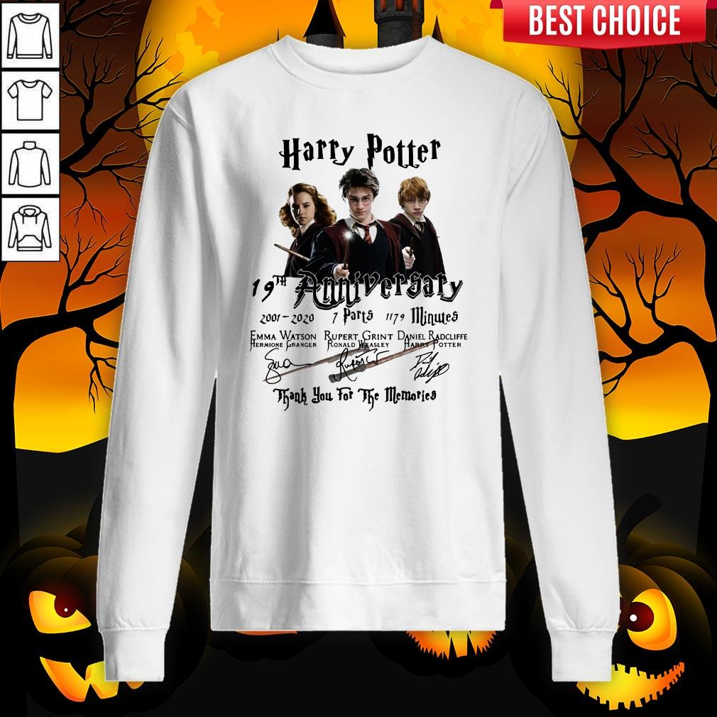Harry Potter 19th Anniversary 2001 2020 7 Parts 1179 Minutes Thank You For The Memories Signatures Sweatshirt