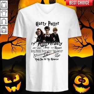 Harry Potter 19th Anniversary 2001 2020 7 Parts 1179 Minutes Thank You For The Memories Signatures V-neck