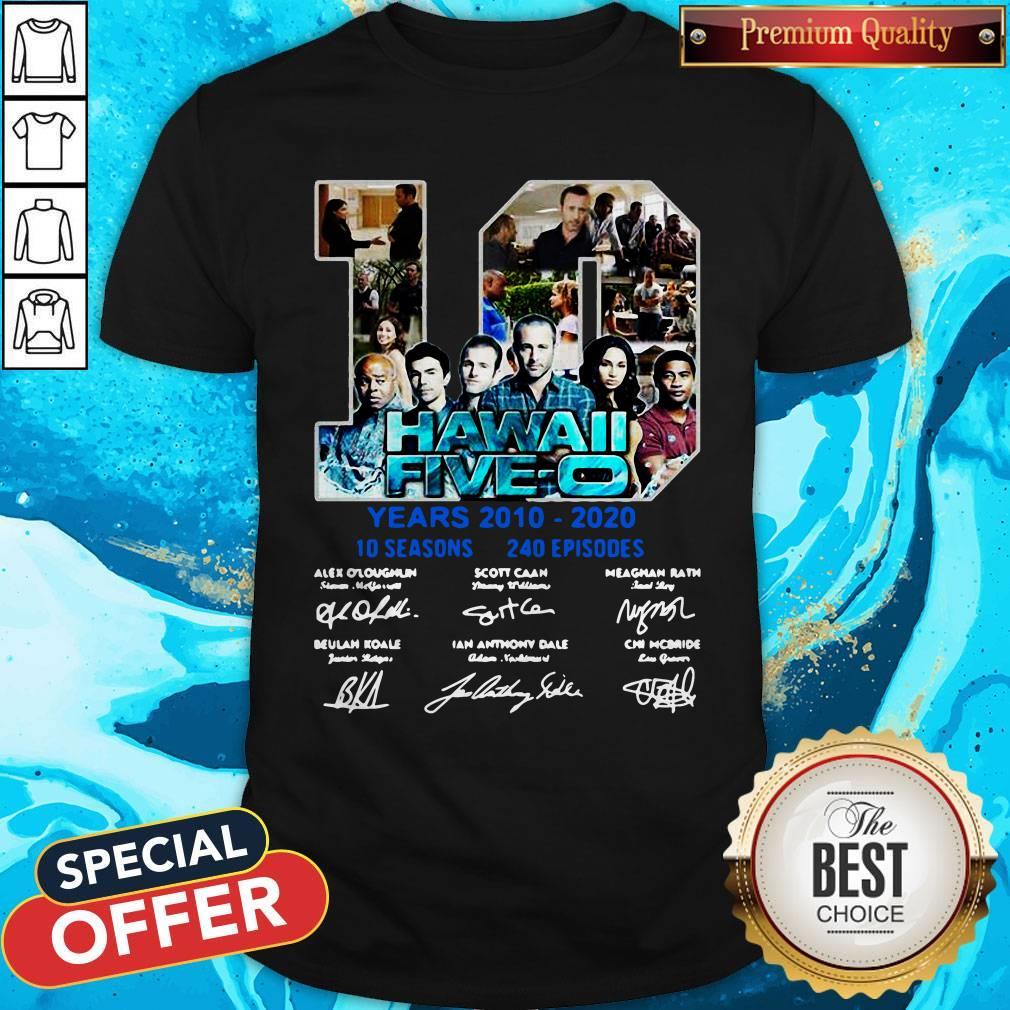 Hawaii Five O 10 Years 2010 2020 Signatures Shirt