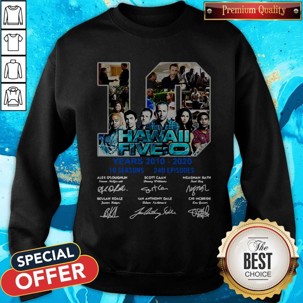 Hawaii Five O 10 Years 2010 2020 Signatures Sweatshirt