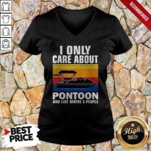 I Only Care About Pontoon And Like Maybe 3 People Vintage V-neck
