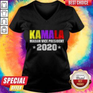 Kamala Harris Madam Vice President 2020 V-neck