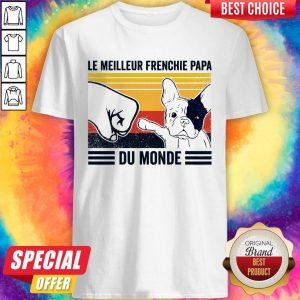 Le Meilleur Frenchie Papa Du Monde Vintage Shirt