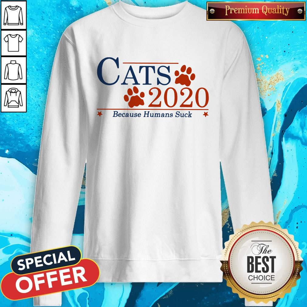 Nice Cats 2020 Because Humans Suck Sweatshirt