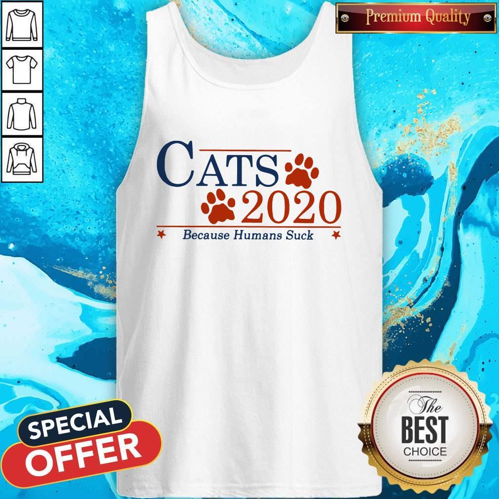 Nice Cats 2020 Because Humans Suck Tank Top