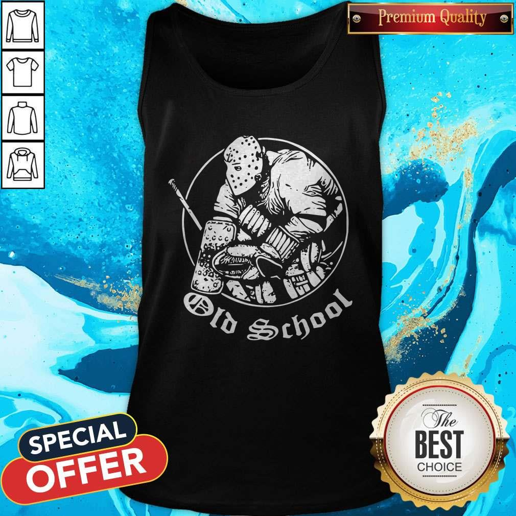 Nice Hockey Goalie Old School Tank Top