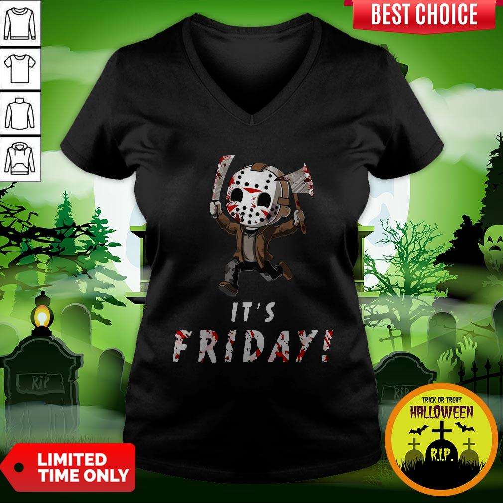 Nice Jason Voorhees It's Friday V-neck
