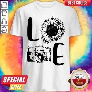 Nice Love Camera Sunflower Shirt