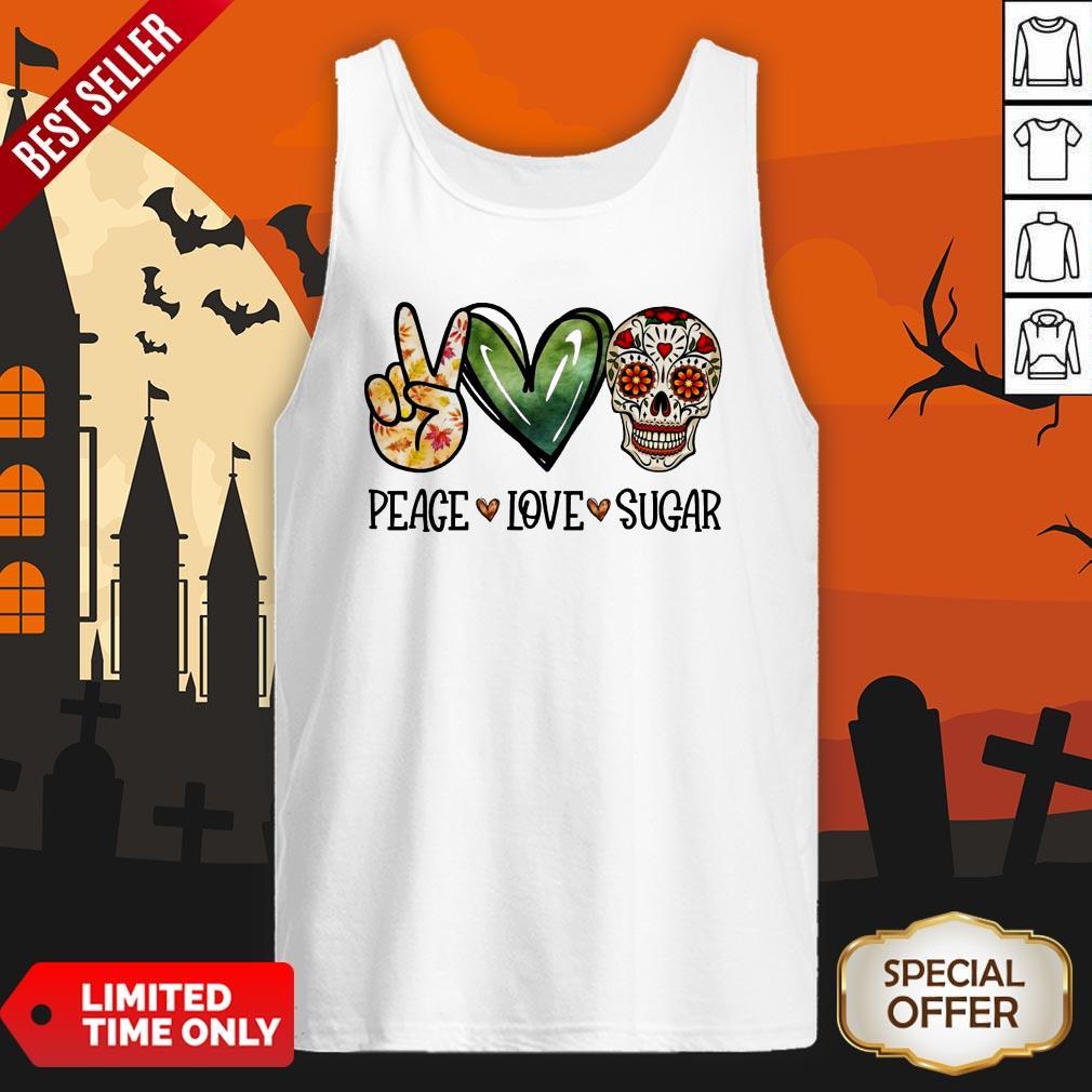 Nice Peace Love Sugar Skull Tank Top