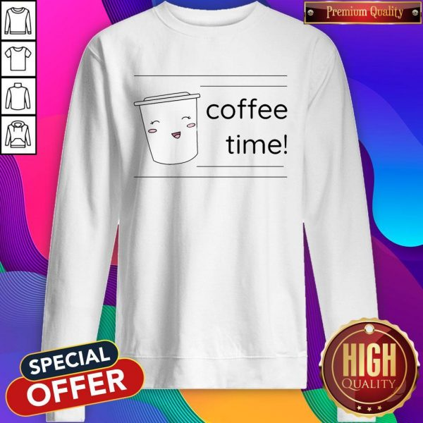 Office Coffee Time Men's Premium Sweatshirt