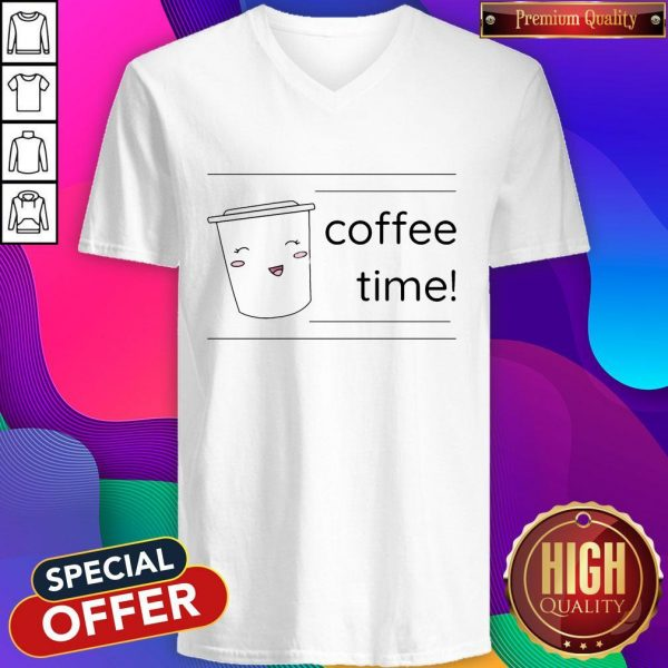 Office Coffee Time Men's Premium V-neck