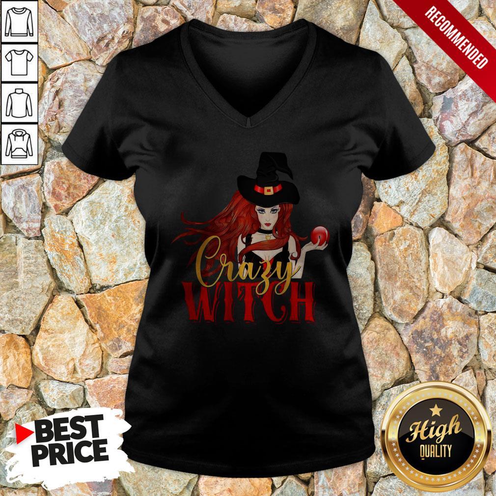 Office Crazy Witch V-neck
