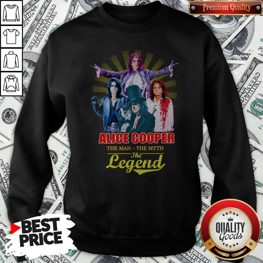 Official Alice Cooper The Man The Myth The Legend Sweatshirt