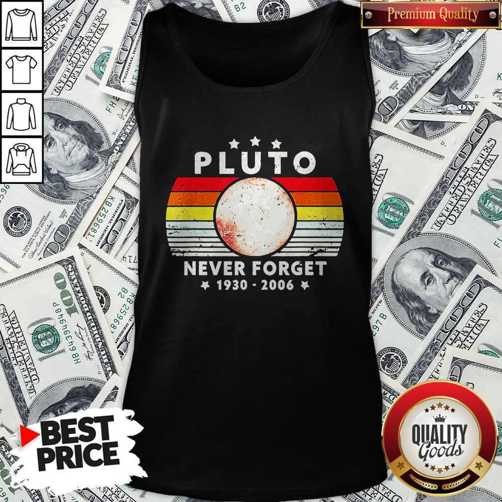 Pluto Never Forget 1930 2006 Vintage Tank Top