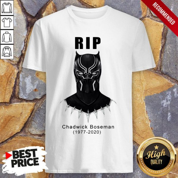 RIP Actor Chadwick Boseman Of Marvel Thank You For The Memories Shirt