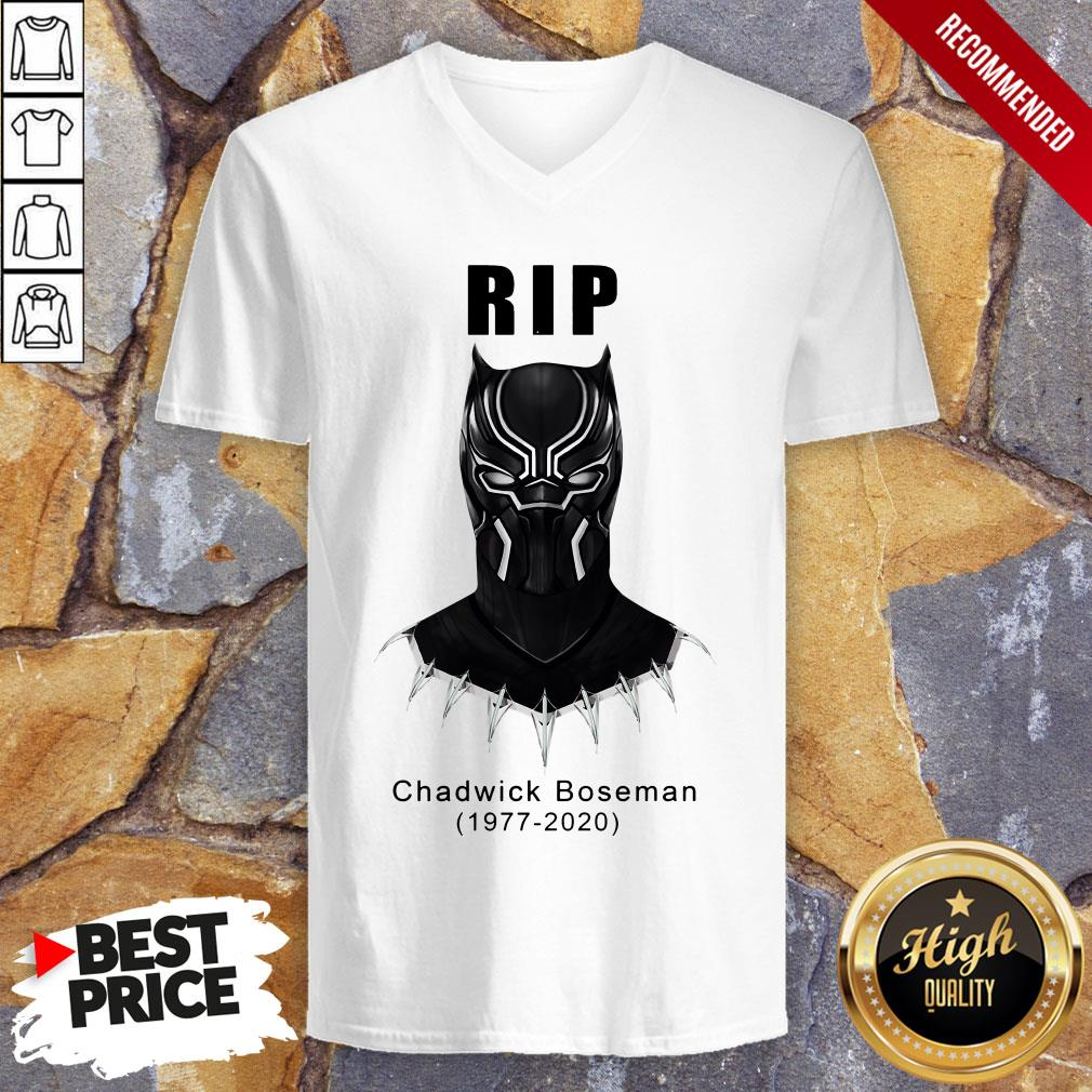 RIP Actor Chadwick Boseman Of Marvel Thank You For The Memories V-neck