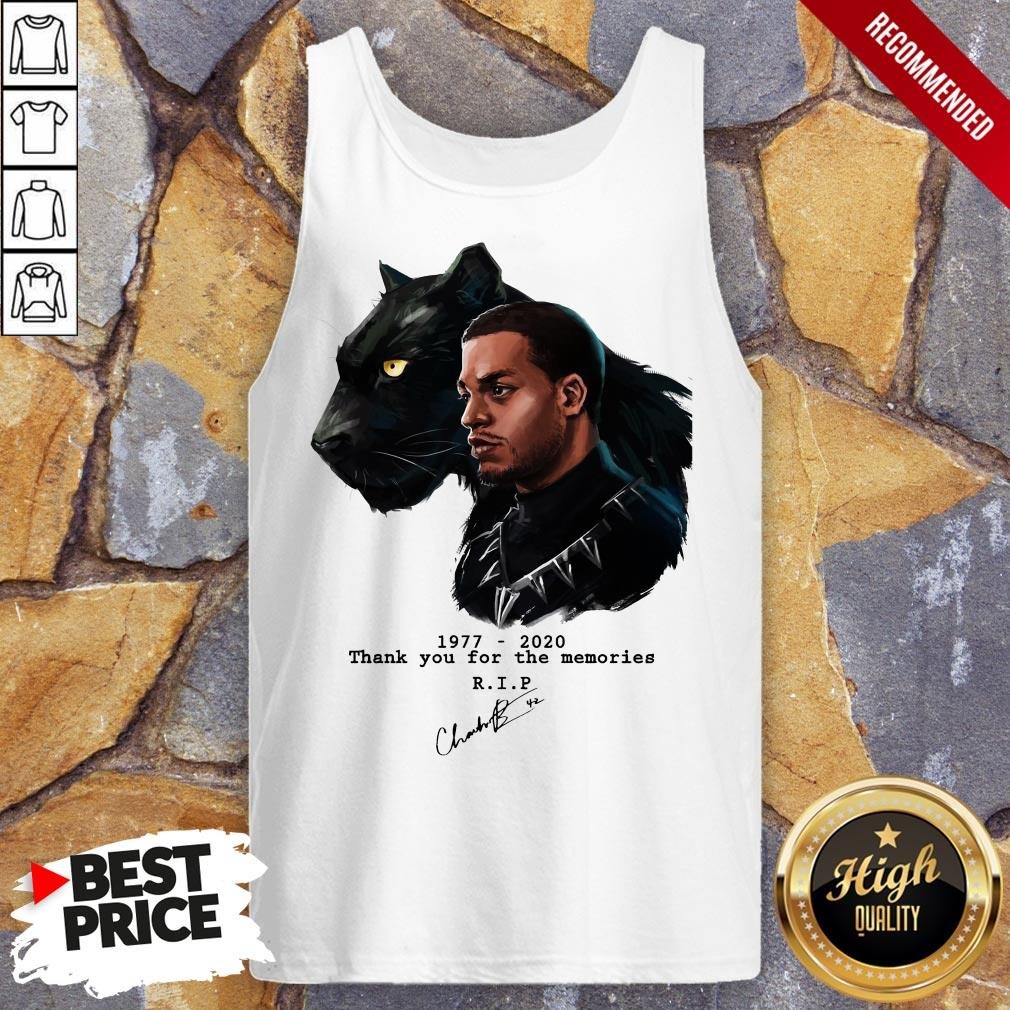 T'Challa In Black Panther Chadwick Boseman 1977 2020 Tank Top