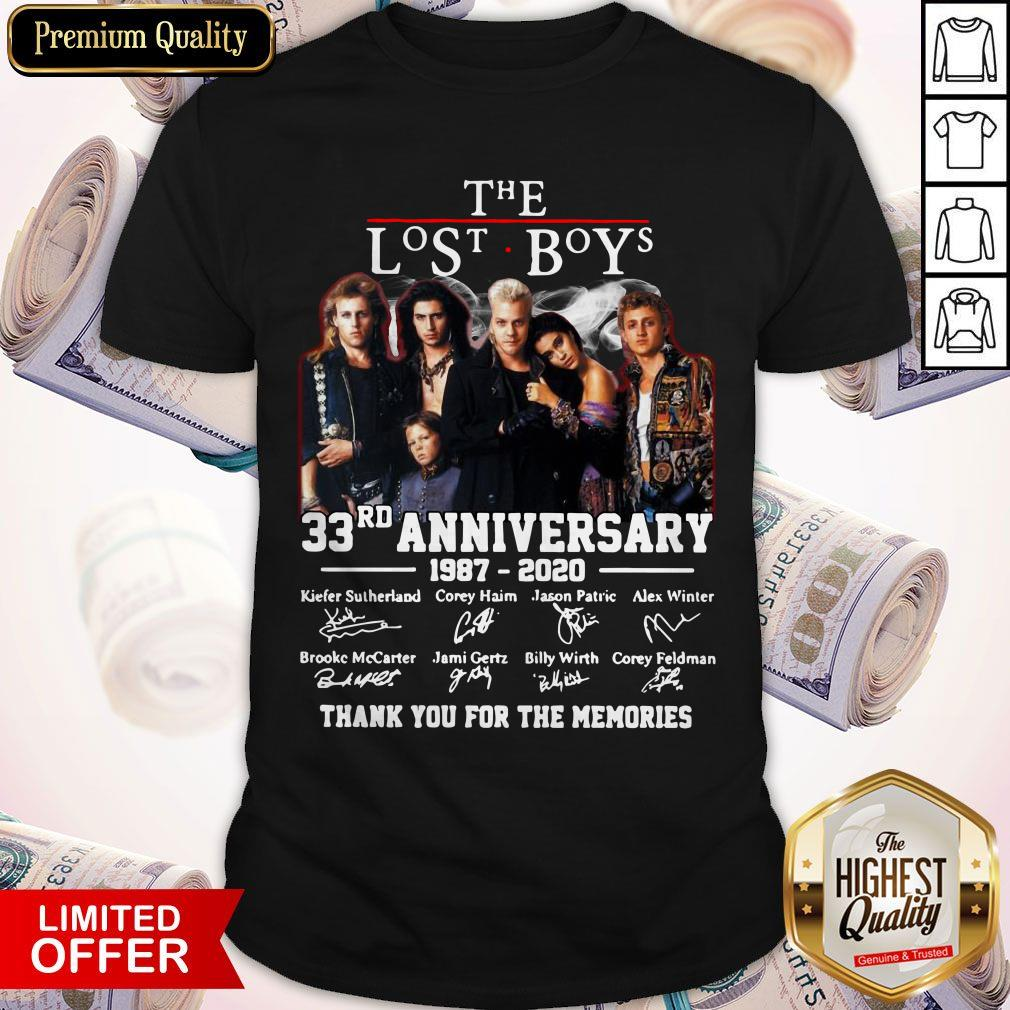 The Lost Boys 33rn Anniversary 1987 2020 Thank You For The Memories Signatures Shirt