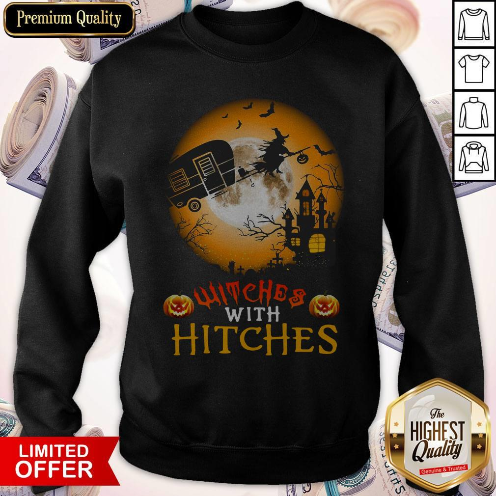 Witches With Hitches Halloween Sweatshirt