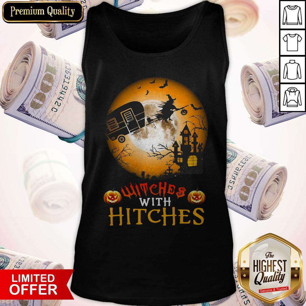 Witches With Hitches Halloween Tank Top