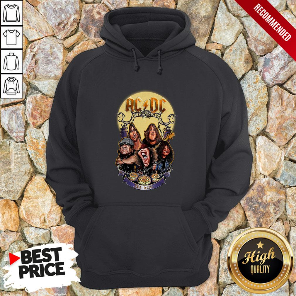Ac Dc Heavy Metal Music Band Band Hail The Ac Dc To Halloween Hoodie