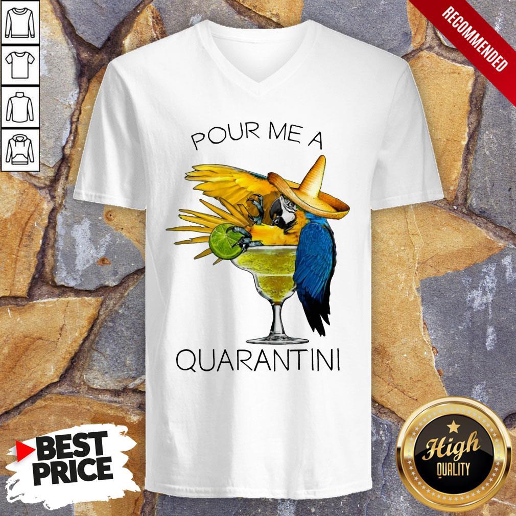 Awesome Pour Me A Quarantine V-neck