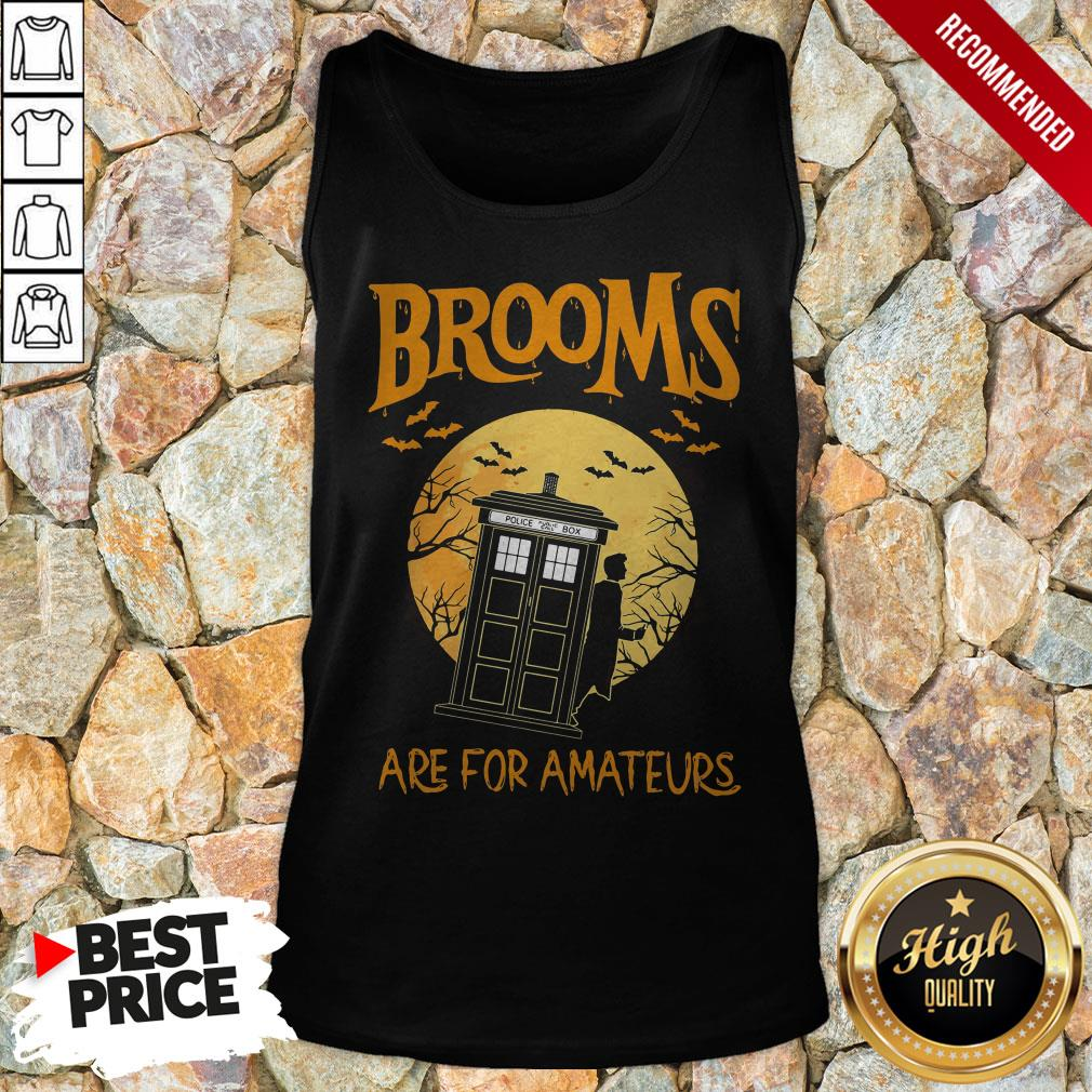 Brooms Are For Amateurs Halloween Tank Top