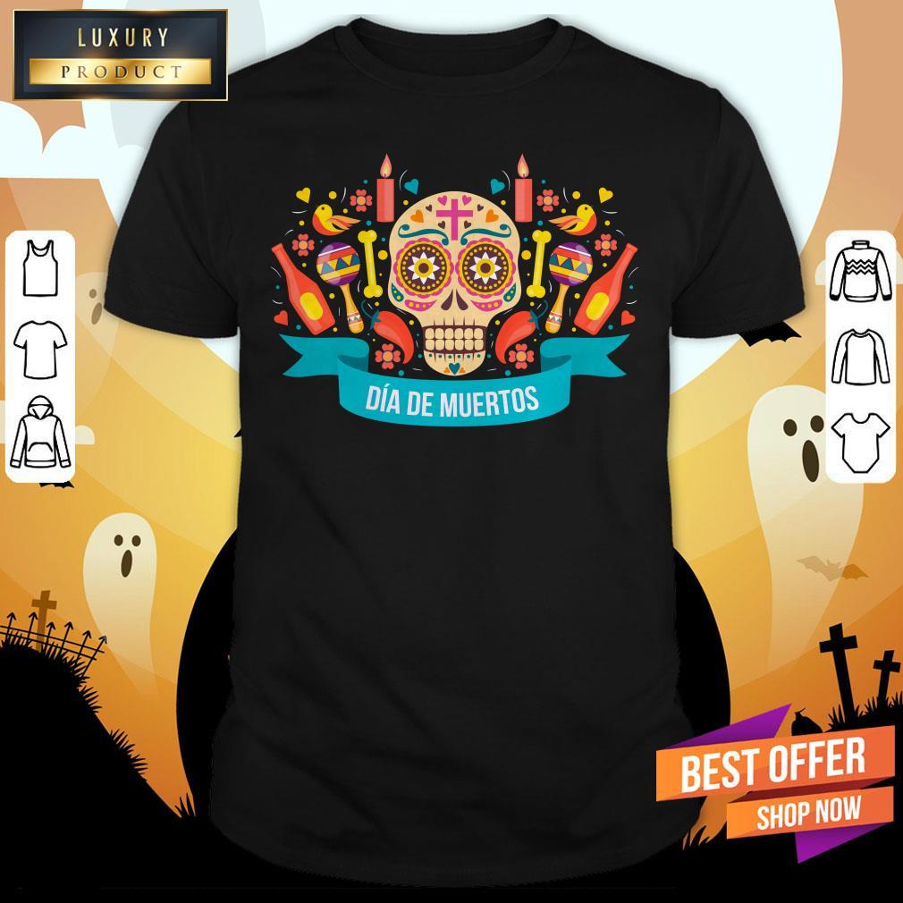 Day Of The Dead Skull Sugar Shirt