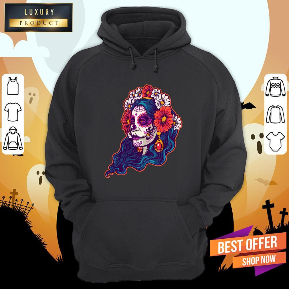 Dia De Muertos Day Dead Sugar Skull Girl Hoodie
