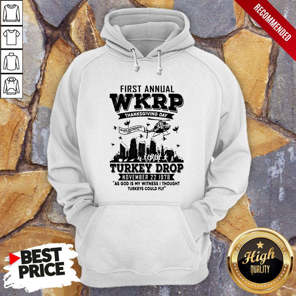 First Annual Wkrp Thanksgiving Day Turkey Drop November 22 1978 Hoodie