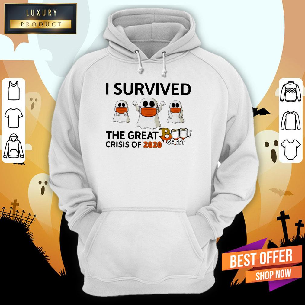 Ghost Face Mask I Survived The Great Crisis Of 2020 Boo Sheet Hoodie