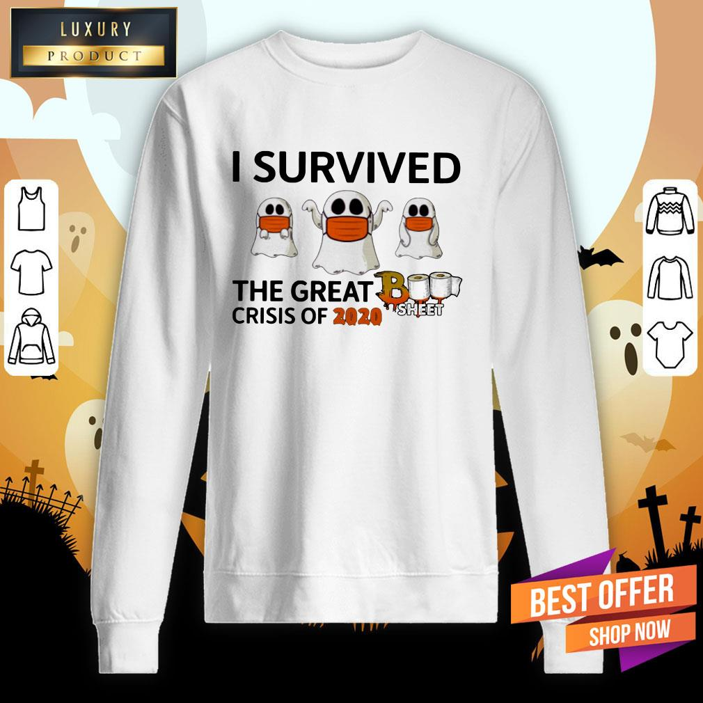 Ghost Face Mask I Survived The Great Crisis Of 2020 Boo Sheet Sweatshirt