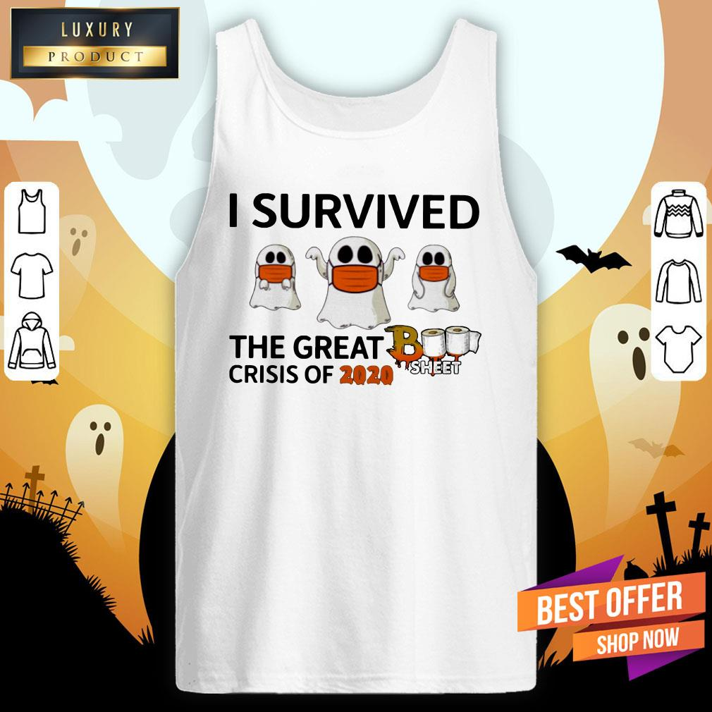 Ghost Face Mask I Survived The Great Crisis Of 2020 Boo Sheet Tank Top