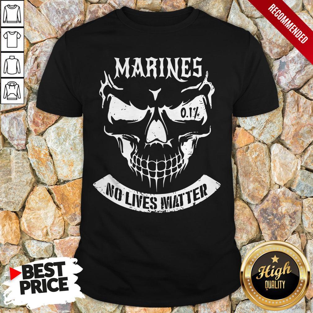 Happy Marines No Lives Matter Tee Shirt