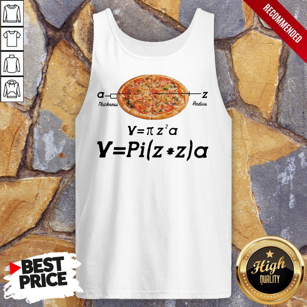 Hot Pizza Thickness Radius Tank Top