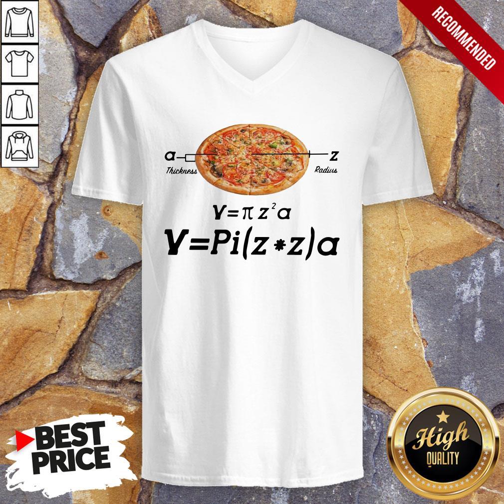 Hot Pizza Thickness Radius V-neck