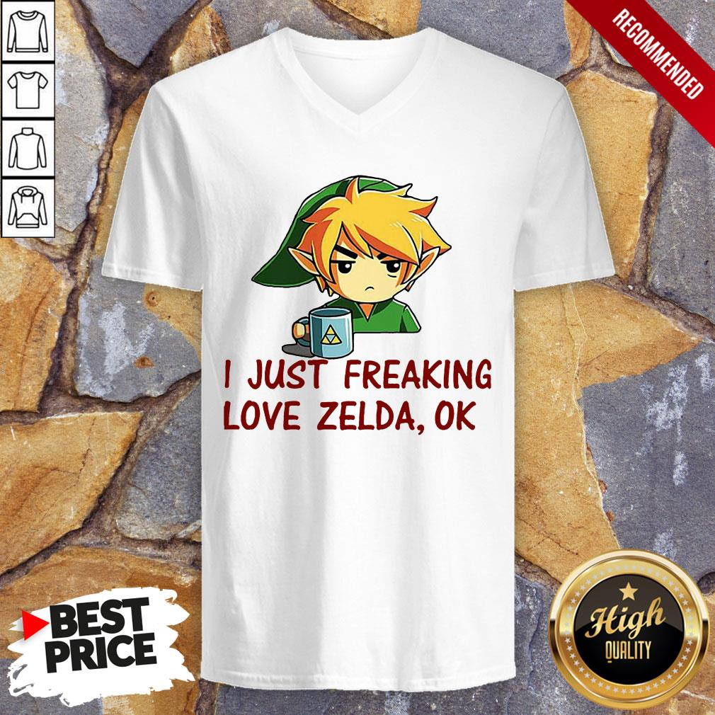 I Just Freaking Love Zelda Ok V-neck