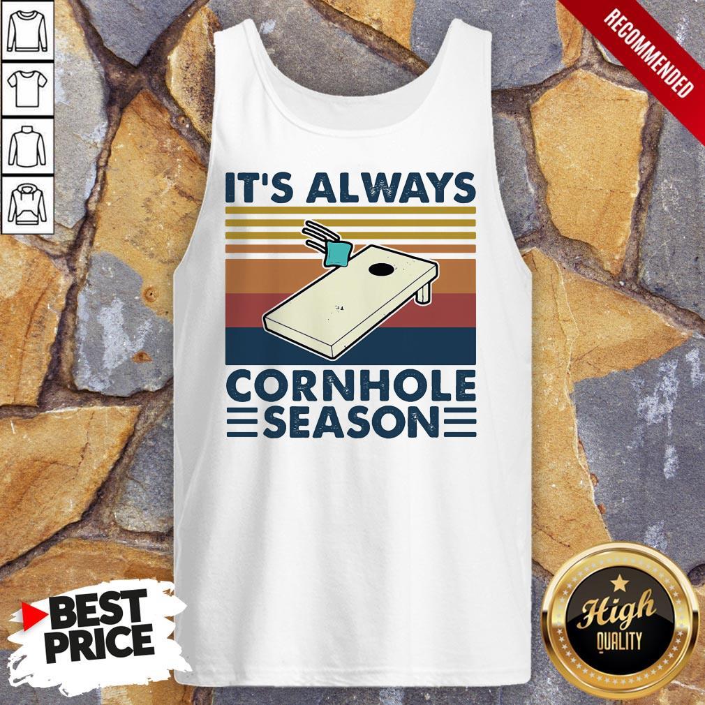 It's Always Cornhole Season Vintage Retro Tank Top