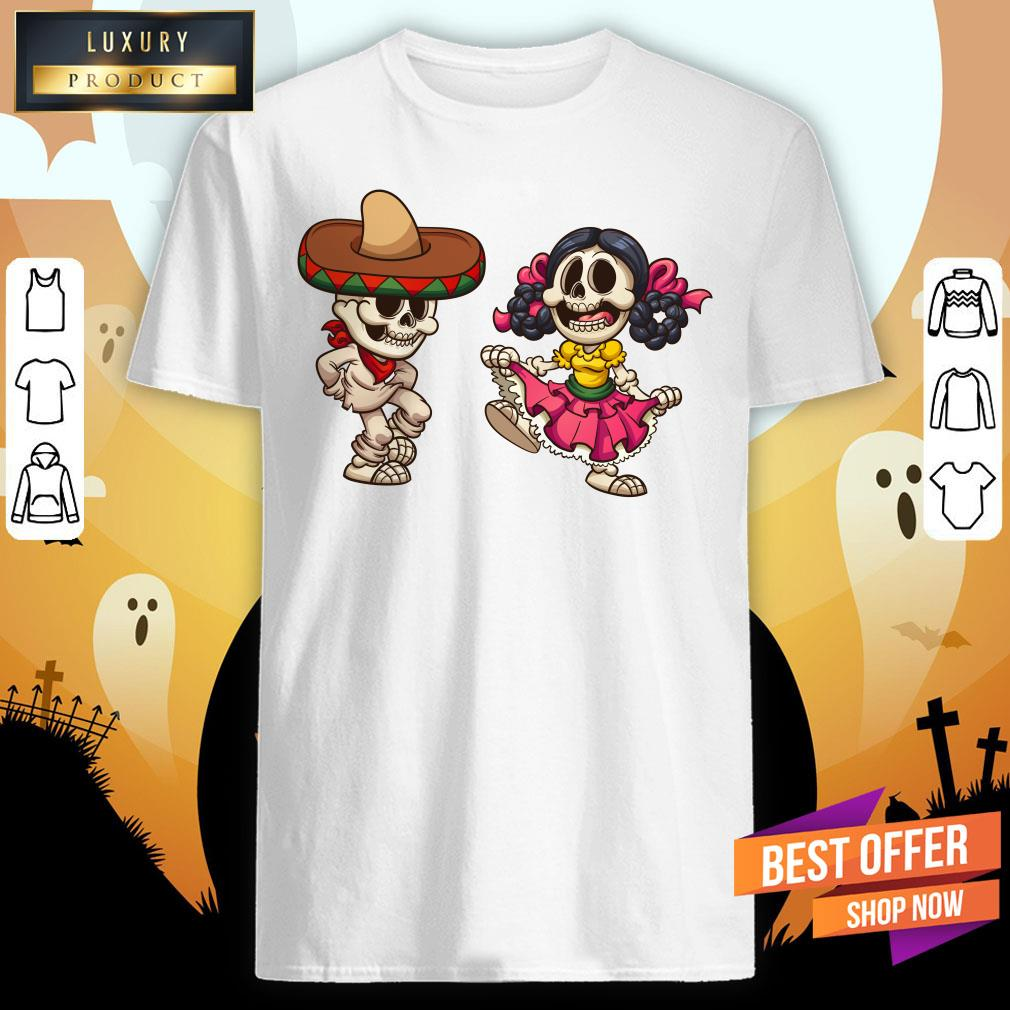 Mexican Skeletons Skull Sugar Shirt