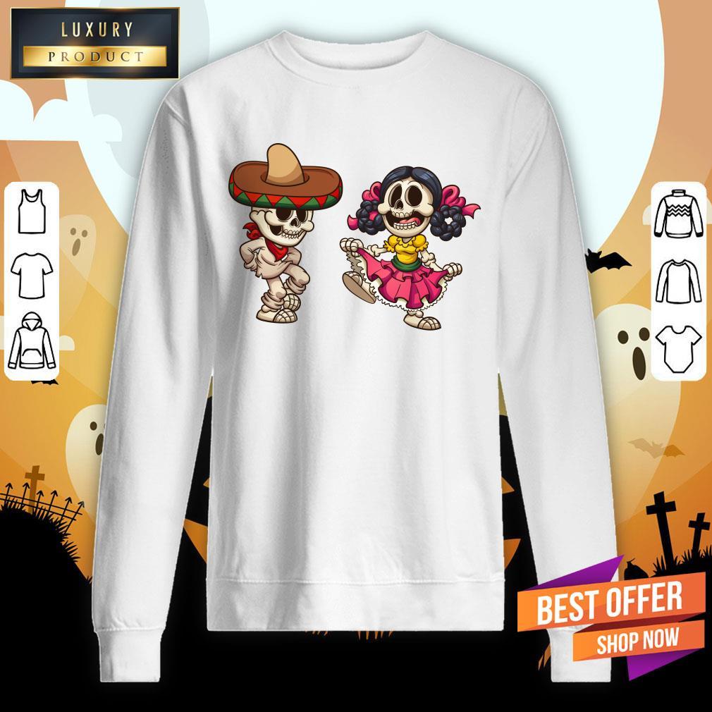Mexican Skeletons Skull Sugar Sweatshirt
