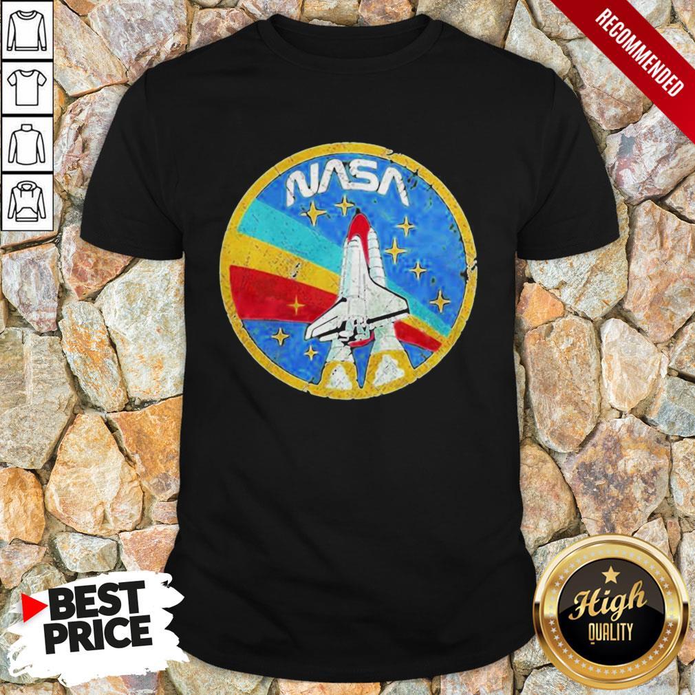 Nice LGBT Plane Nasa Logo Shirt