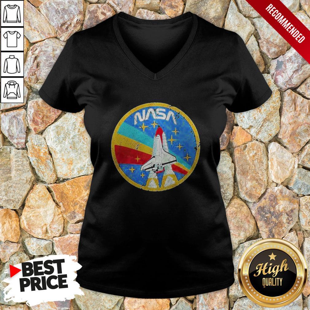 Nice LGBT Plane Nasa Logo V-neck