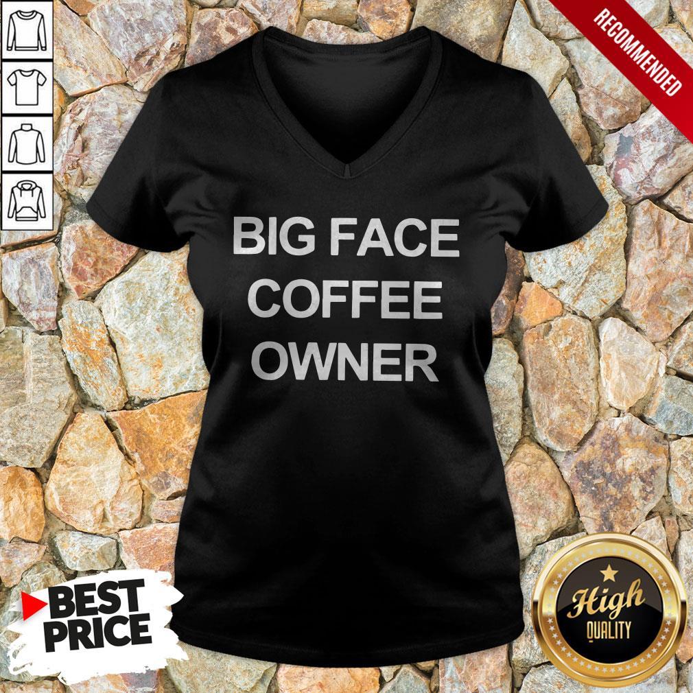 Official Big Face Coffee Owner V-neck