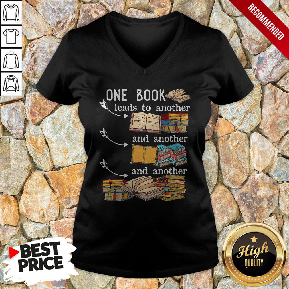 One Book Leads To Another And Another And Another V-neck