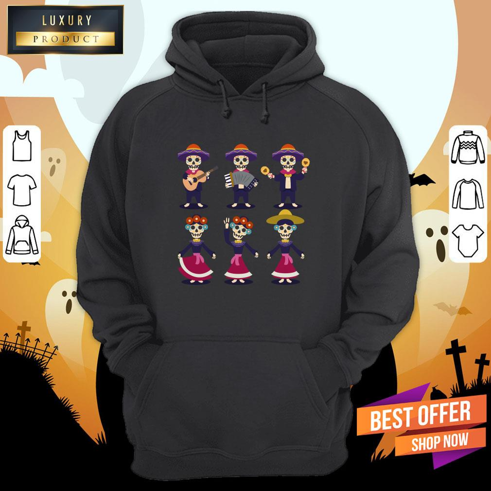 Party Sugar Skull Dia De Los Muertos Day Of Dead Hoodie